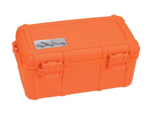 Cigar Caddy 15 stick #3540 Blaze Orange w/Rubber Protective Coating ABS