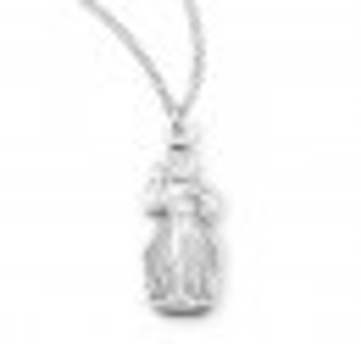 Divine Mercy Sterling Silver Pendant