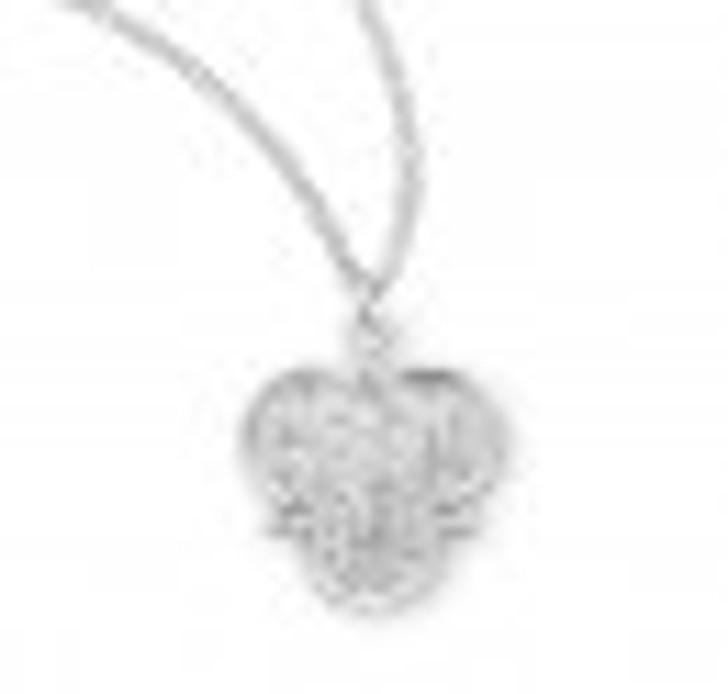 Holy Spirit Sterling Silver Trinity Symbol Medal S153518_1