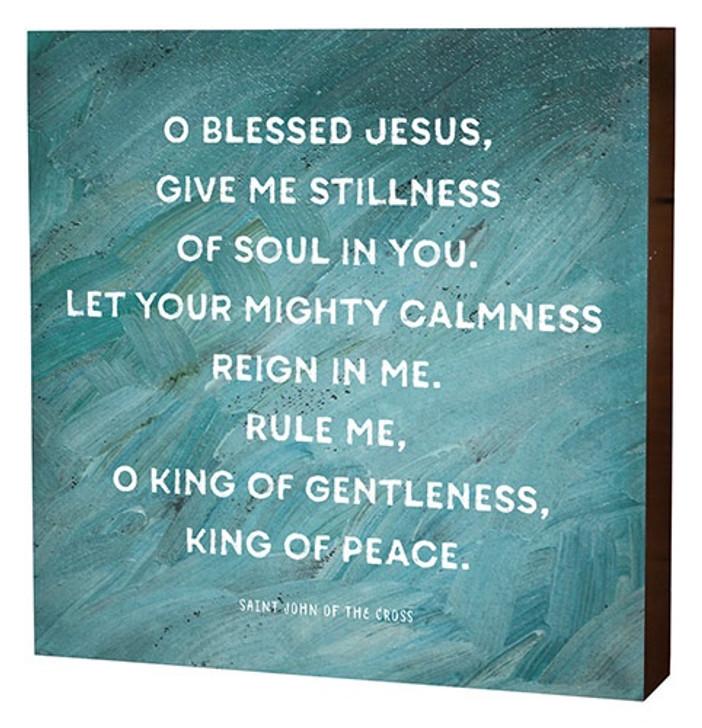 10 In Box Sign - Prayer Of Peace B3146