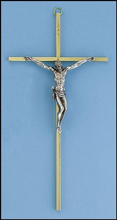 10 In Brass Crucifix BS422