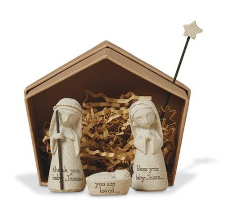 Bless You Holy Family Nativity Set 3 Pieces