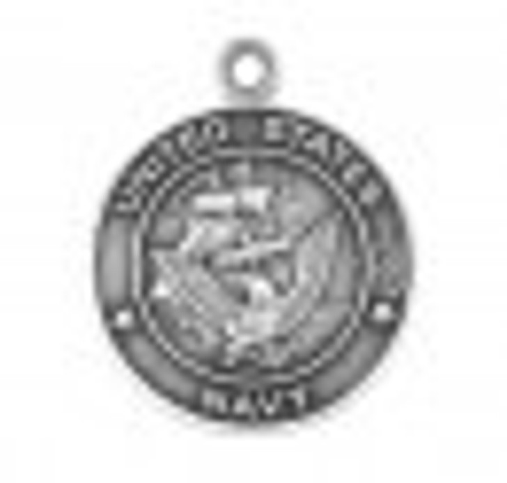 Sterling Silver Navy Medal with St. Michael on Reverse Side S910924