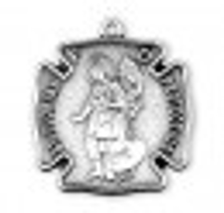 Saint Florian Sterling Silver Fire Fighters Medal S161420