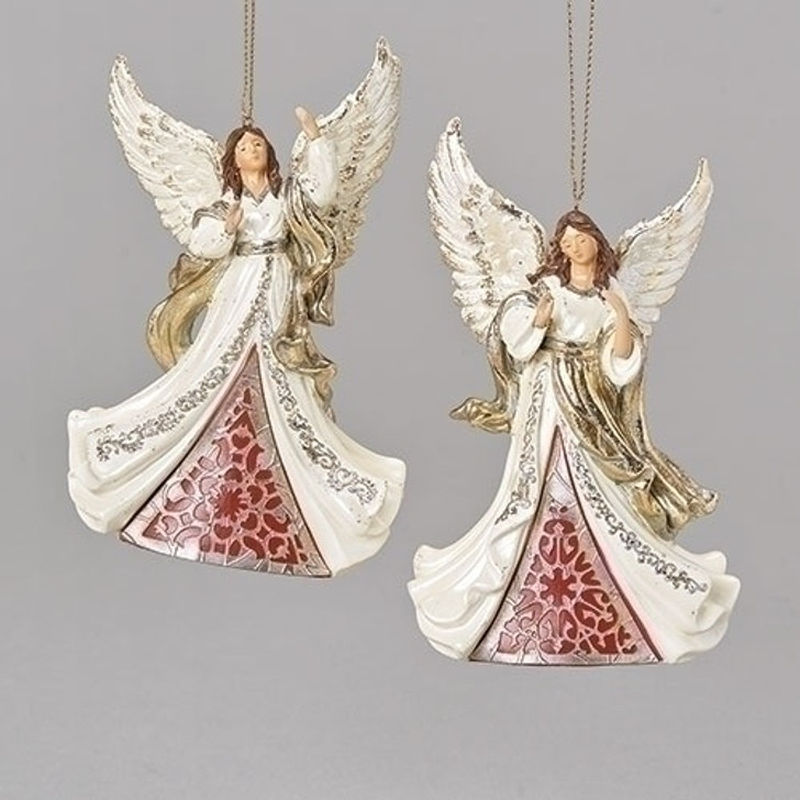 "4.75""H ANGEL IVORY/GOLD 2ASST $15/Pair or $42/Set of 6"