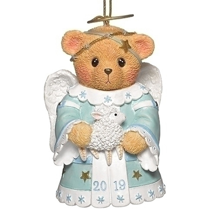 """3"""" ANGEL ORN ANNUAL 2019 BELL DATED CHERISHED TEDDIE"""