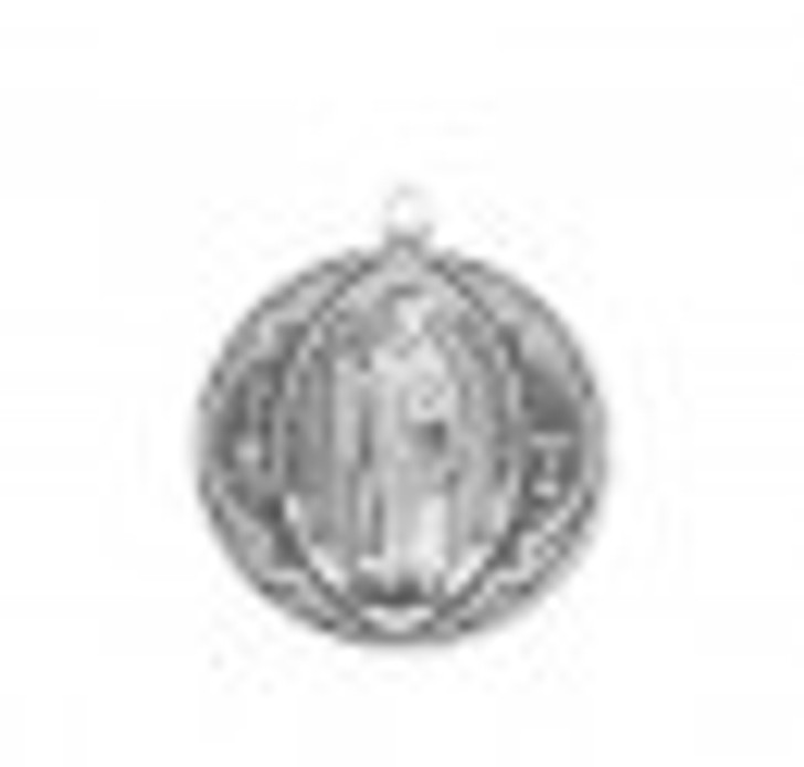Saint Benedict Round Jubilee Sterling Silver Medal S168927