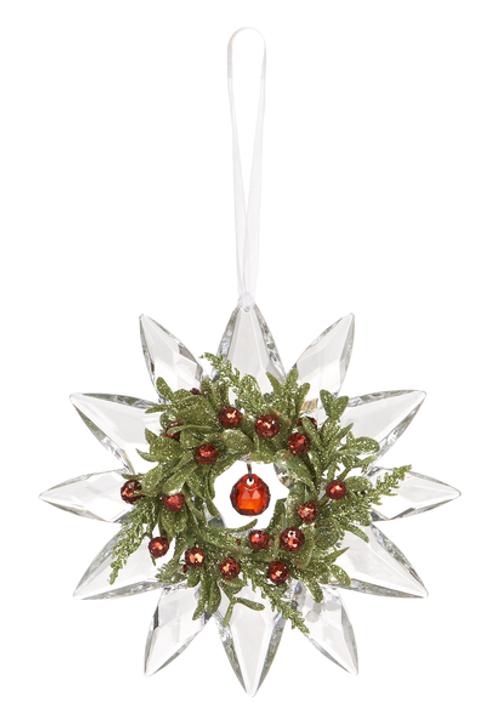 Mini Mistletoe Jewel Snowflake KK306