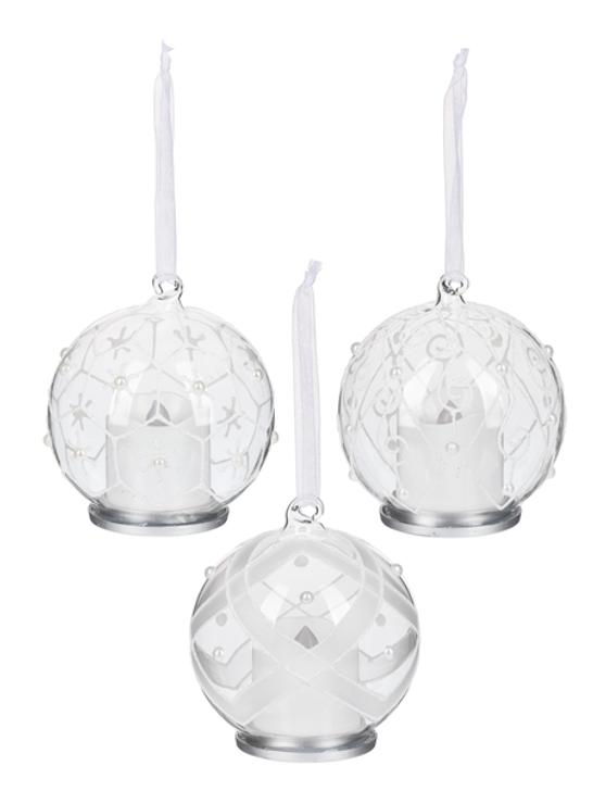 Glass Ornaments w/Pearls