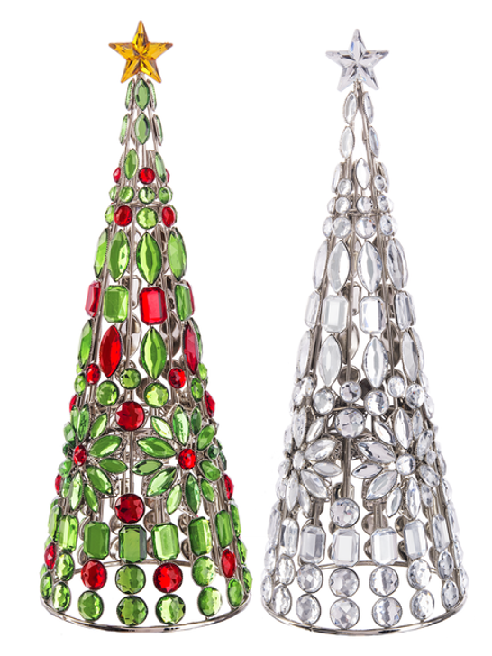 Tabletop Jewel Christmas Trees