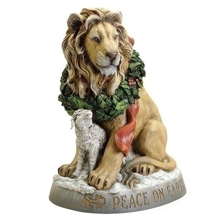 19.25 In LION & LAMB STATUARY 38268