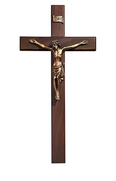 20IN Walnut Crucifix W09-G20