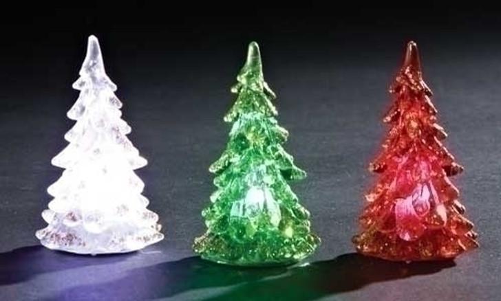 """3""""H LED CHRISTMAS TREE 3/COLOR 32167"""