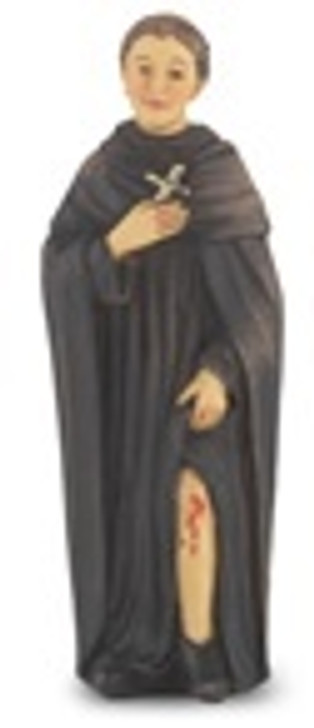 4 IN ST. PEREGRINE HAND PAINTED SOLID RESIN STATUE 1735-514