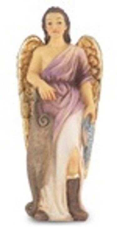 4 IN ST. RAPHAEL HAND PAINTED SOLID RESIN STATUE 1735-526