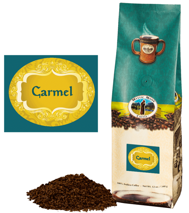 Mystic Monk Carmel Ground 12 oz