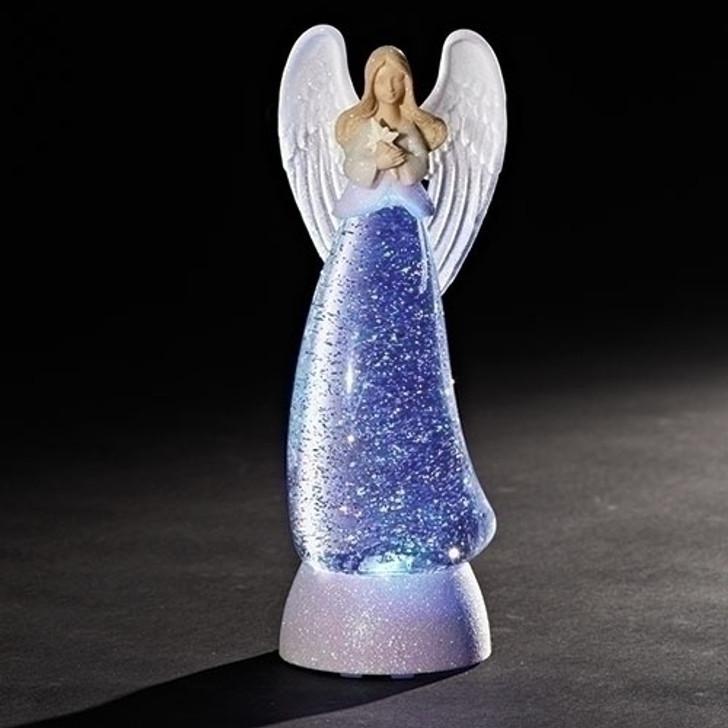 """11""""H LED SWIRL DOME ANGEL GLITTERDOME 32065"""