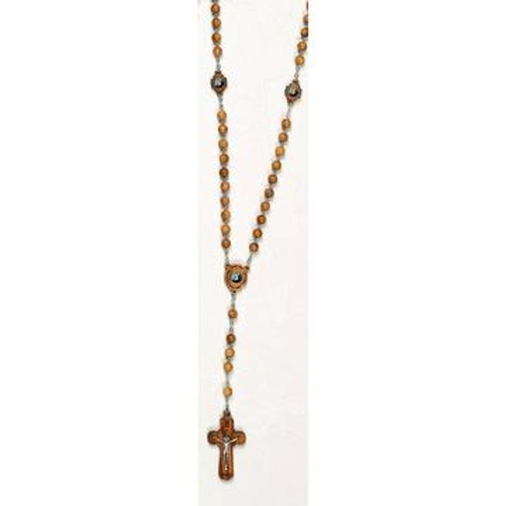 Italian Olive Wood Rosary - Saint Pio 175-16-3544
