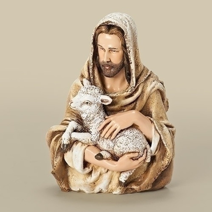 """6.75""""H JESUS WITH LAMB BUST 66993"""