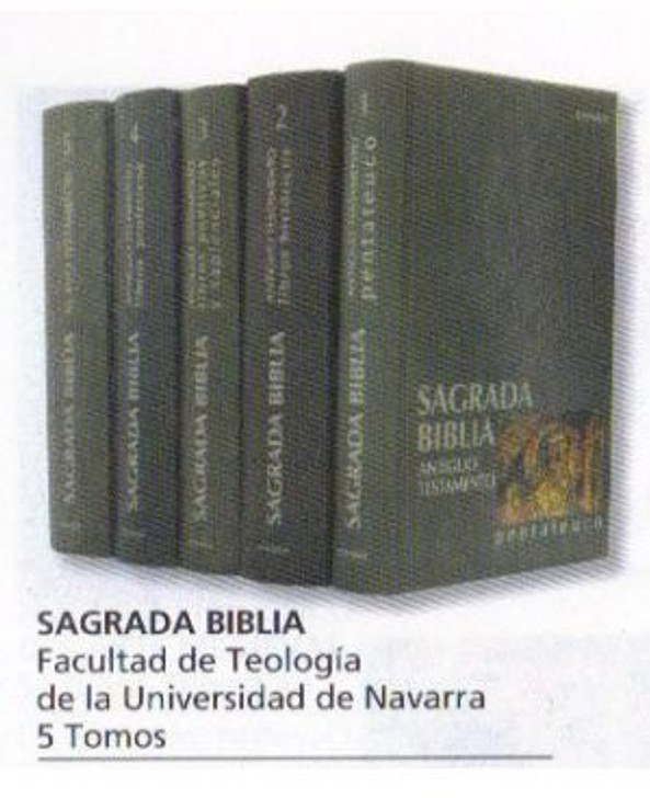 Biblia de Navarra, cinco volumenes 5-VOLUME SET