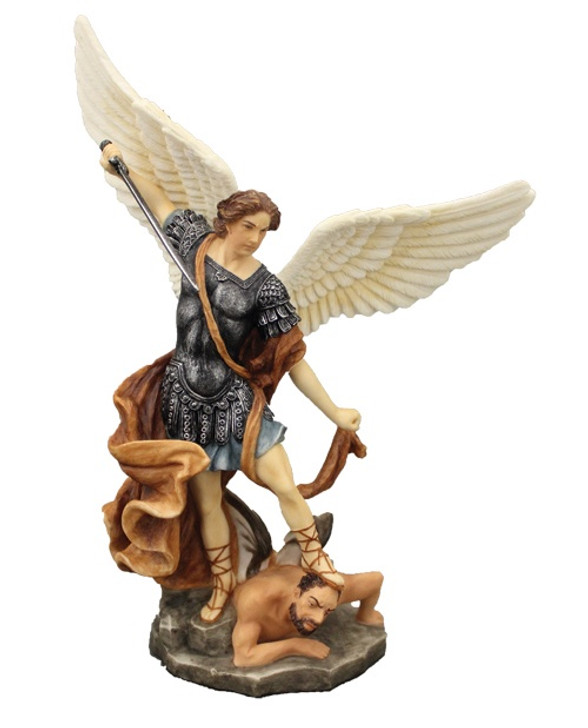 St. Michael in fullly hand-painted color, 8 IN SR-76519-C