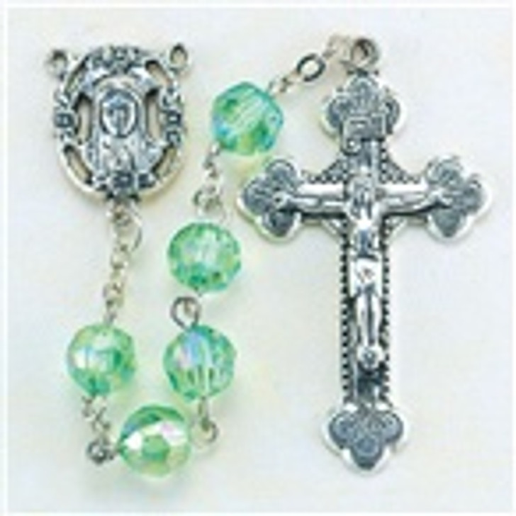 Birthstone rosary Aug