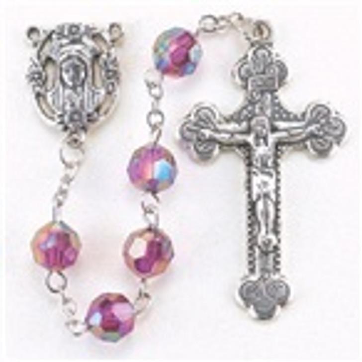 Birthstone rosary Feb