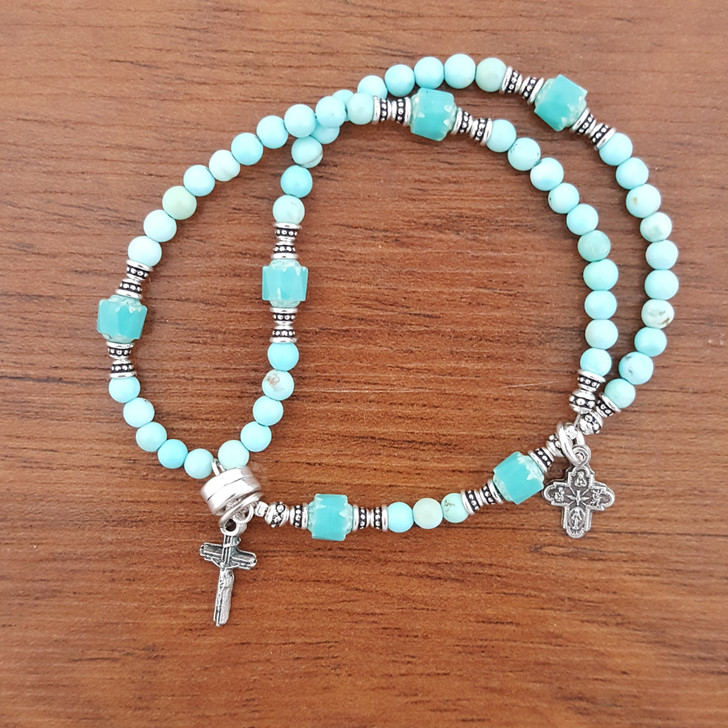 Genuine Turquoise Wrist Rosary?