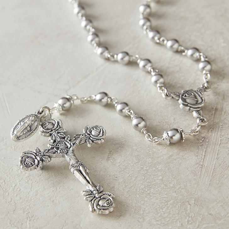 Swarovski Gray Lock-Link Rosary SO22PGD
