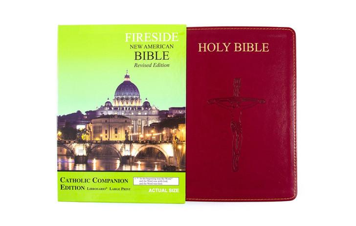 Catholic Companion Edition Librosario? Large Print Burgundy ? NABRE Burgundy 4046