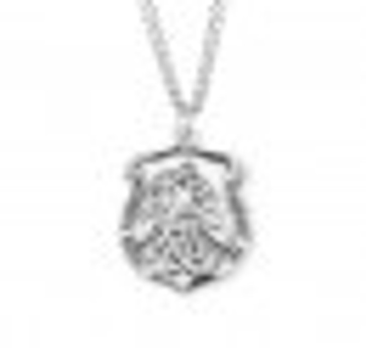 Saint Michael Sterling Silver Badge Medal S162324