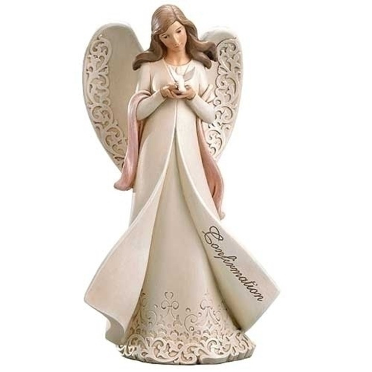 "9""H CONFIRMATION ANGEL W/DOVE 602002"