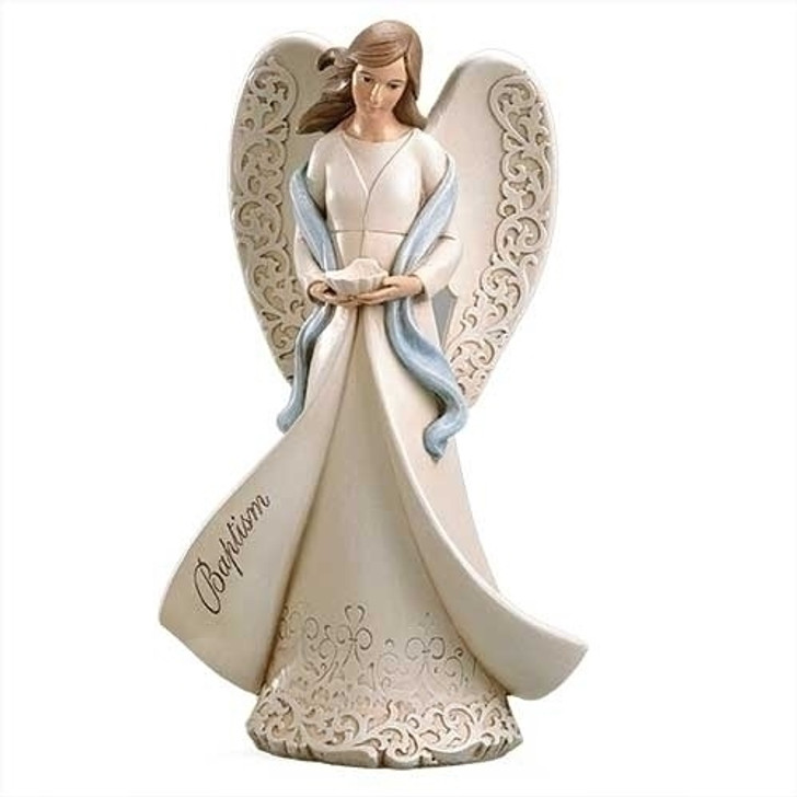 "9""H BAPTISM ANGEL HOLDING SHELL 602000"