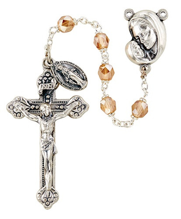 Mother's Embrace Italian Lock-Link Rosary - Gold SO6ABG18D