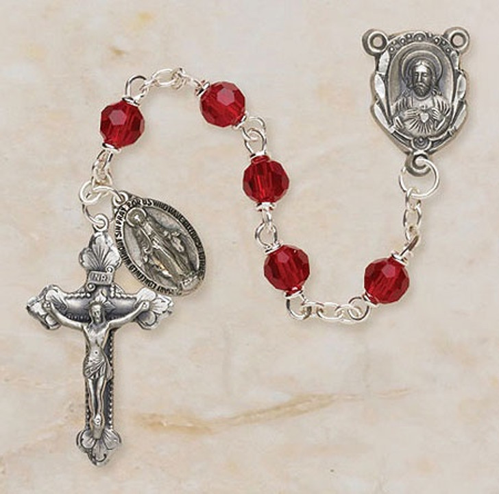 Vienna Collection Ruby Lock-Link Rosary SO26RU5D