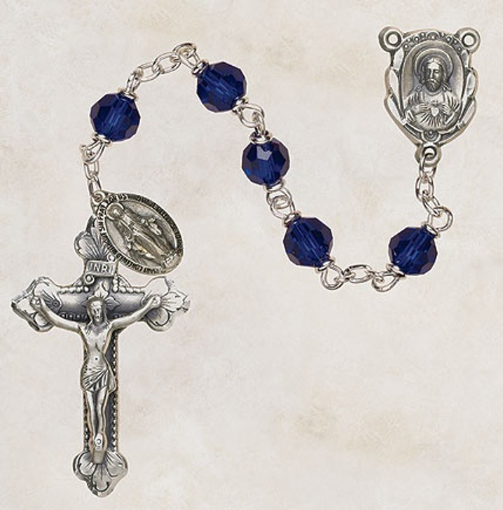 Vienna Collection Sapphire Lock-Link Rosary SO26SP5D