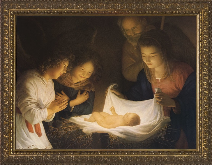 Nativity Framed Art NW-122D2