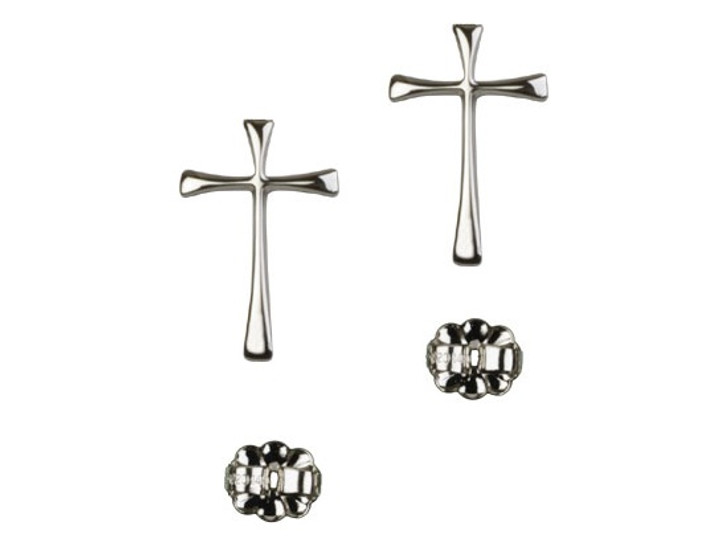 Maltese Cross post earring E1872P