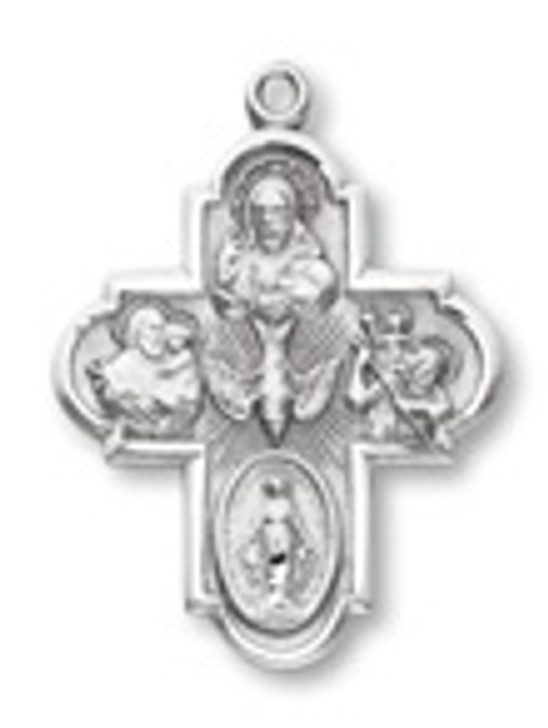 PEWTER FOUR-WAY PENDANT P1495-24