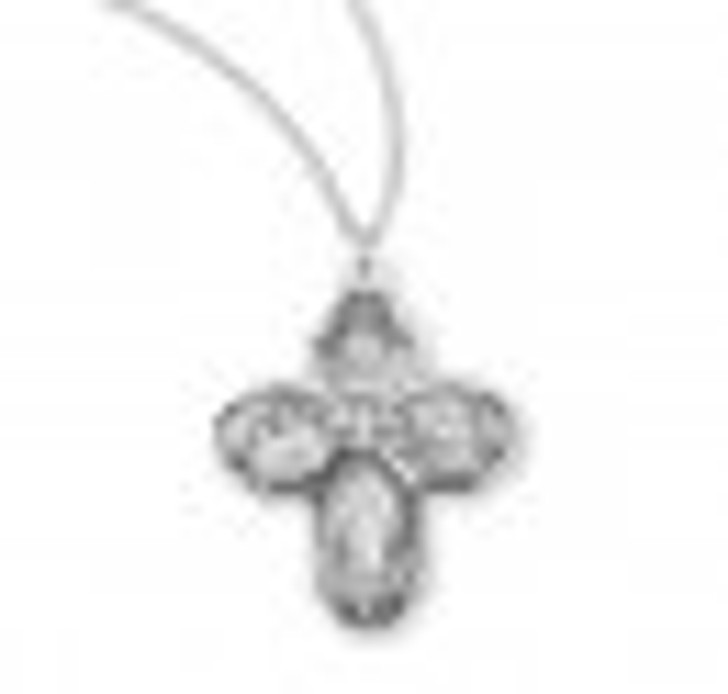 Sterling Silver 4-Way Medal S144618