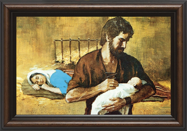 Holy Family - Walnut Framed Art NW-610_20