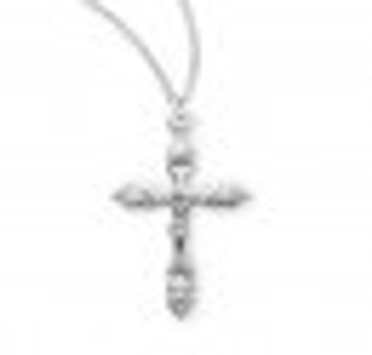 Sterling Silver Wheat Crucifix S381018