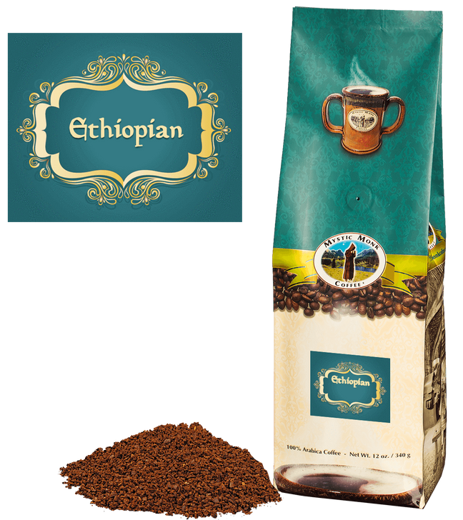 Mystic Monk Ethiopian ground 12 oz