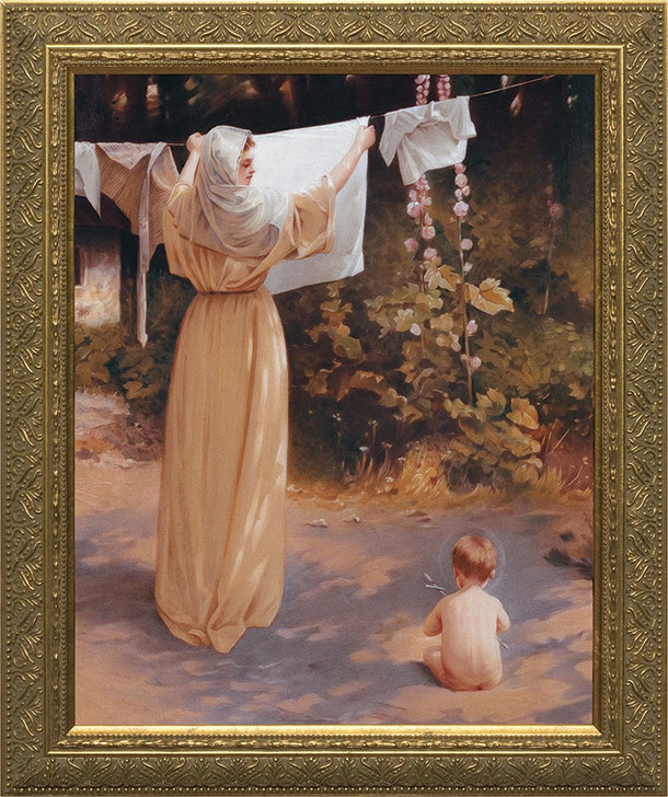 Polish Madonna - Gold Framed Art