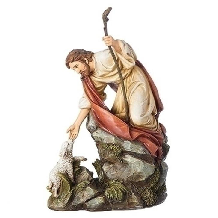 "10.5""H JESUS WITH LAMB 600401"