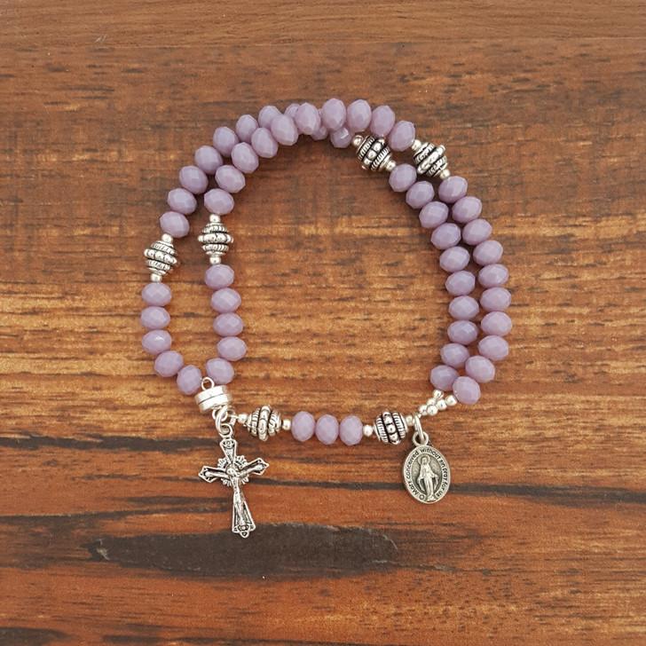Lavender Opaque Wrist Rosary