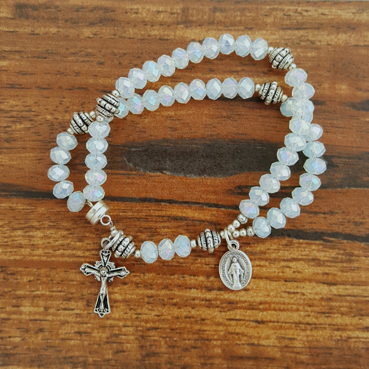 White Opal Wrist Rosary