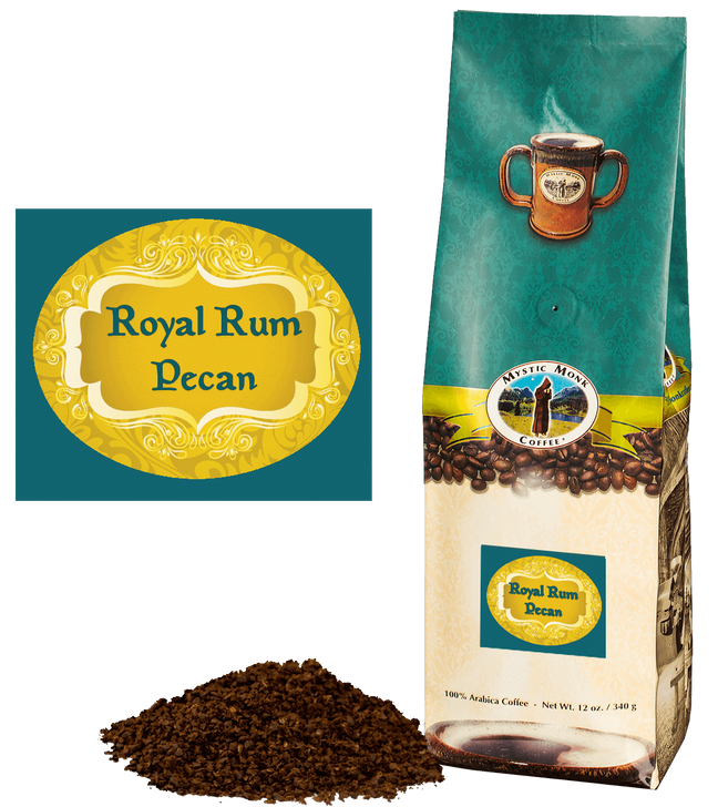 Mystic Monk Royal Rum Pecan 12 oz Ground