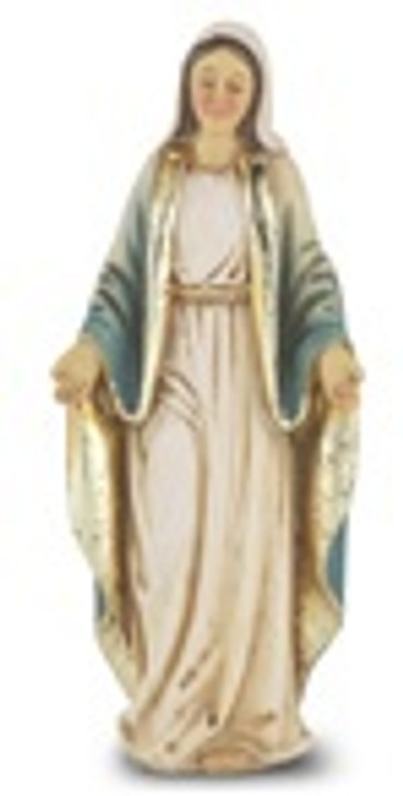 "4"" O.L. OF GRACE HAND PAINTED SOLID RESIN STATUE 1735-200"