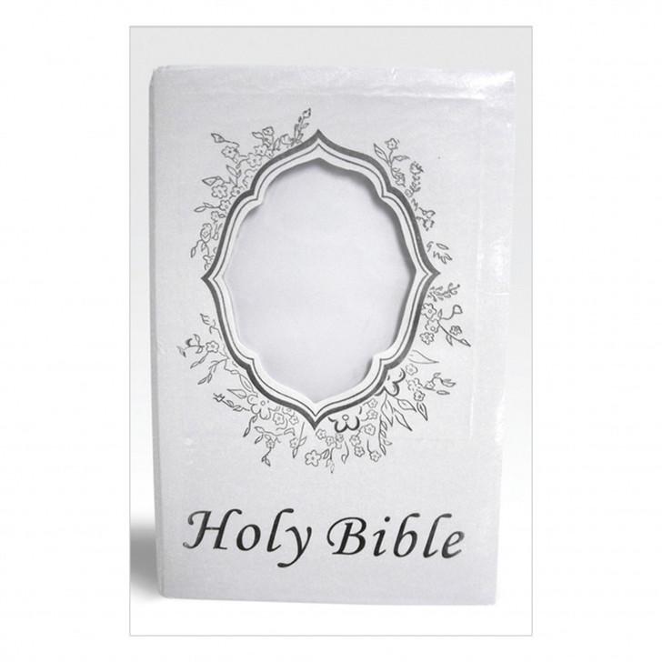 """HOLY BIBLE SILVER ENG 6""""X 8.5"""" BBL2SE"""